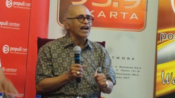 Soal Rekonsiliasi Jokowi & Prabowo, Salim Said: Semoga Allah Belum Bosan Menyelamatkan Indonesia