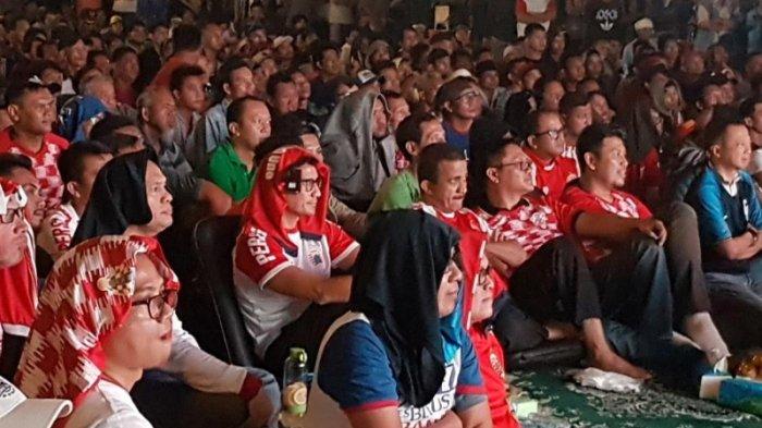 Nobar Piala Dunia di Pasar Induk, Sandi Uno: Ini Bentuk Apresiasi Terhadap Pedagang