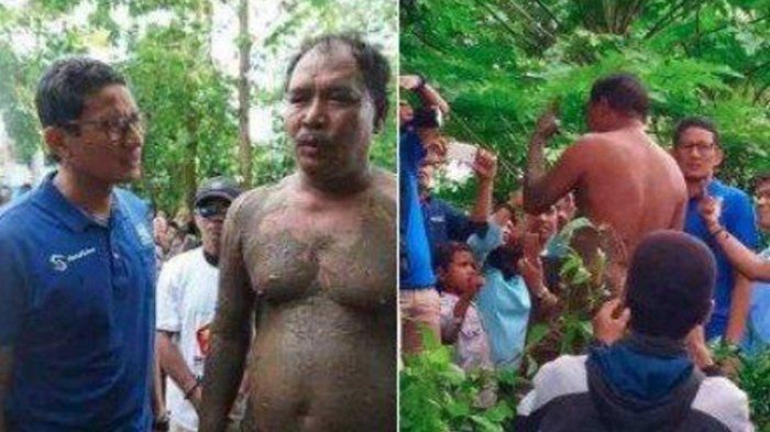 Pria Berlumpur Ngobrol Bareng Sandiaga Uno, Budiman Sudjatmiko: Ketebalan Lumpur Kontras