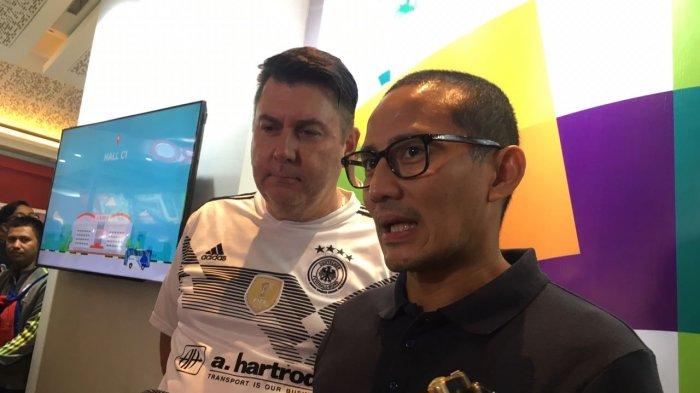 Sandiaga Ditemani Anaknya Datangi Jakarta Fair Kemayoran, Berencana Gelar Nobar Piala Dunia