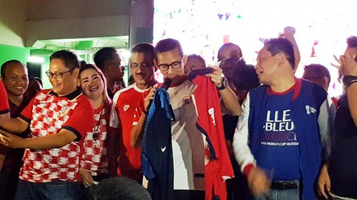 PakaiJersey Persija, Sandiaga Uno Optimis Kroasia Juara Dunia