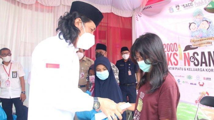 Orangtuanya Meninggal Dunia karena Covid-19, Anak-anak Yatim Piatu di Jakarta Utara Diberi Santunan