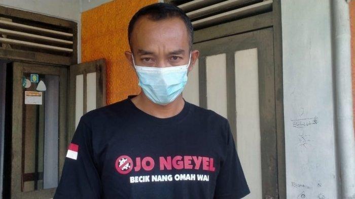 Wahyu Tri Hananto (38) warga Klaten yang berprofesi sebagai satpam garmen mendapat ganti rugi Tol.