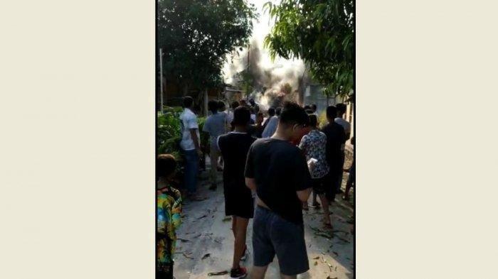 Pesawat Tempur Milik TNI AU Jatuh Dekat Permukiman Warga di Kampar Pekanbaru