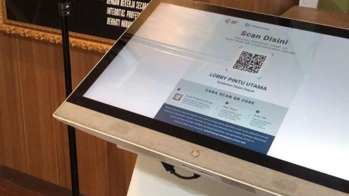 CATAT! Kini Pegawai dan Pengunjung Kejari Depok Wajib Scan Barcode Aplikasi PeduliLindungi
