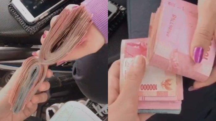 Kisah Dibalik Video Viral Gadis Perlihatkan Segepok Uang saat Bersama Sahabat