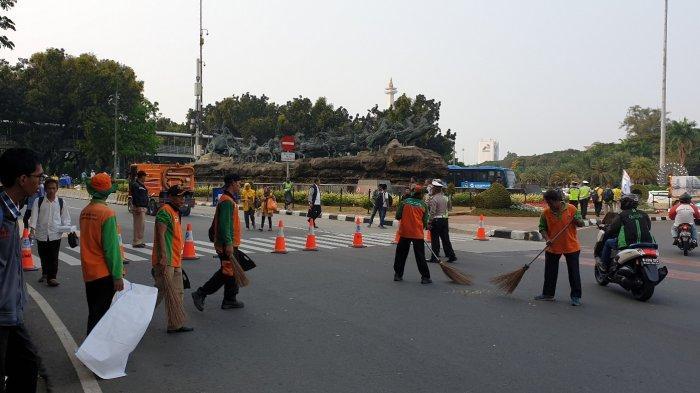 Jelang Sidang Putusan Sengketa Pilpres di MK, Jalan Medan Merdeka Barat Ditutup 1 Arah