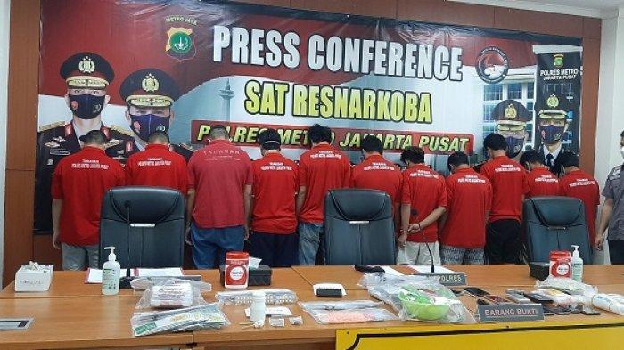 Satuan Reserse Narkoba Polres Metro Jakarta Pusat Tangkap 17 Pengedar Sabu