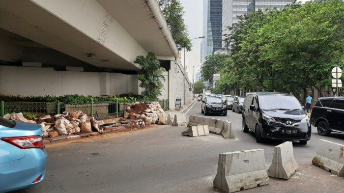 Beton Pembatas Putaran Balik di Jalan Satrio Dijebol, Sudinhub Jaksel Koordinasi dengan Polisi