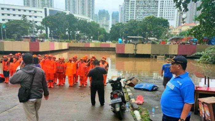 Underpass Ghandi Kemayoran Jakarta Pusat Masih Banjir, Arus Lalu Lintas Ditutup Sementara