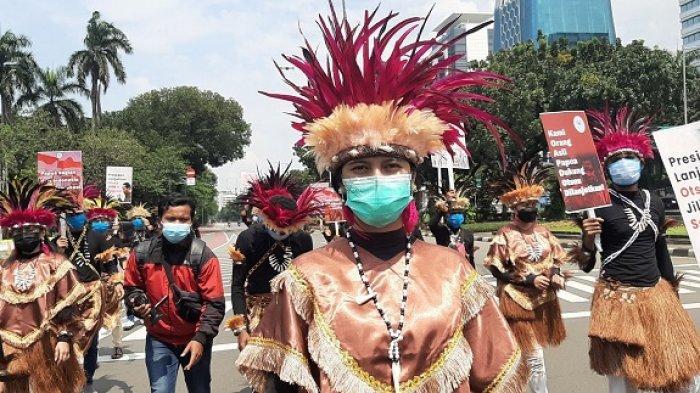 Warga Papua Pawai di Dekat Istana Negara, Suarakan Otonomi Khusus Jilid II