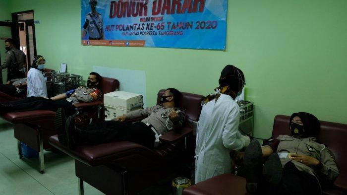 Stok Darah di Kabupaten Tangerang Menipis, Satlantas Polresta Tangerang Gelar Donor Darah