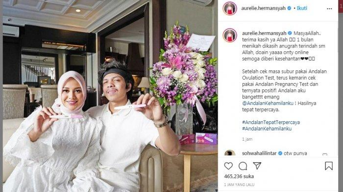 SELAMAT! Aurel Hermansyah Hamil Anak Pertama, Atta Halilintar: Alhamdulillah Istriku Positif!