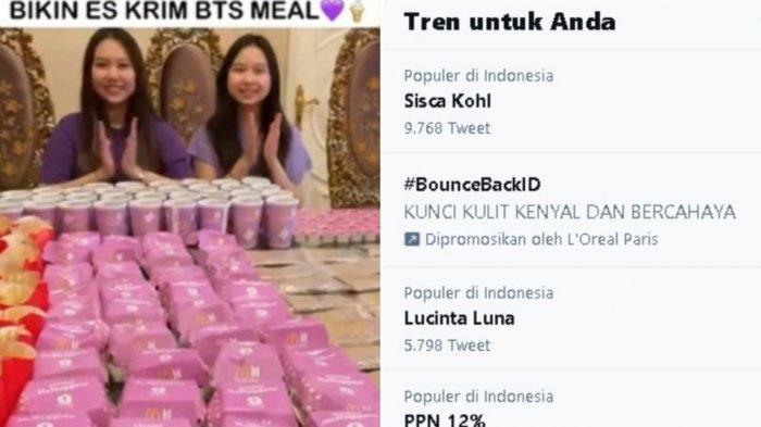 Borong BTS Meal Lalu Olah Jadi Es Krim, Sisca Kohl Trending 1 Twitter: Aku Tidak Beli Terlalu Banyak