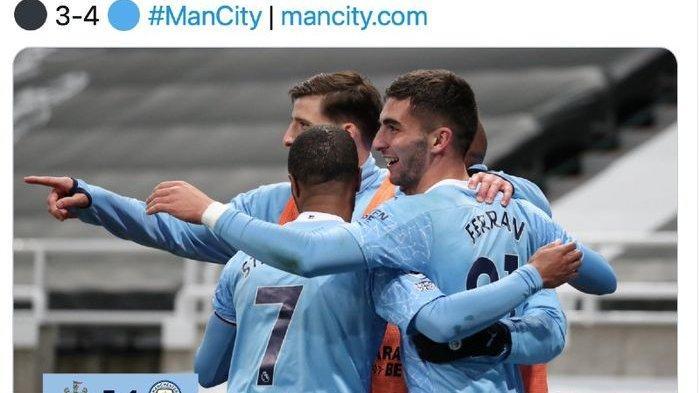 Drama 3 Gol dalam 4 Menit Bawa Manchester City Tumbangkan Newcastle United dan Klasemen Liga Inggris