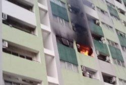 Apartemen Sentral Timur Terbakar, Damkar Kerahkan 10 Unit Mobil Pompa