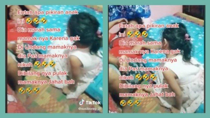 Viral Video Bikin Ngakak, Bocah Marah-marah Tak Diundang Sang Ibu ke Pernikahannya: Mamak Jahat!