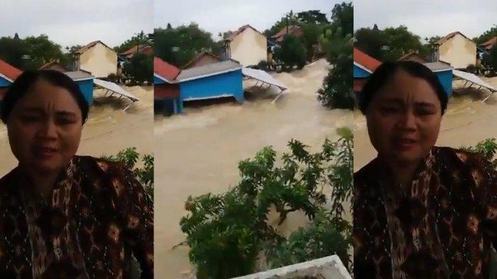Video Seorang Wanita Meminta Tolong Untuk Dievakuasi Karena Terjebak Banjir Viral di Media Sosial