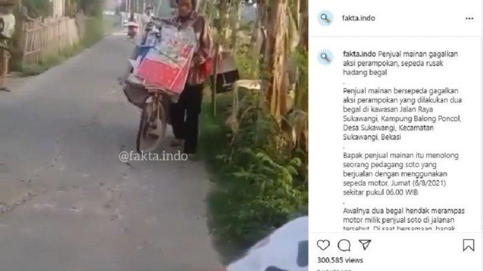 Sepeda penyok gagalkan begal