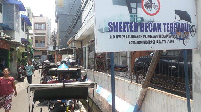 Dipindah ke Shelter Becak Terpadu, Tukang Becak di Pejagalan Mengatakan Pendapatan Menurun Drastis