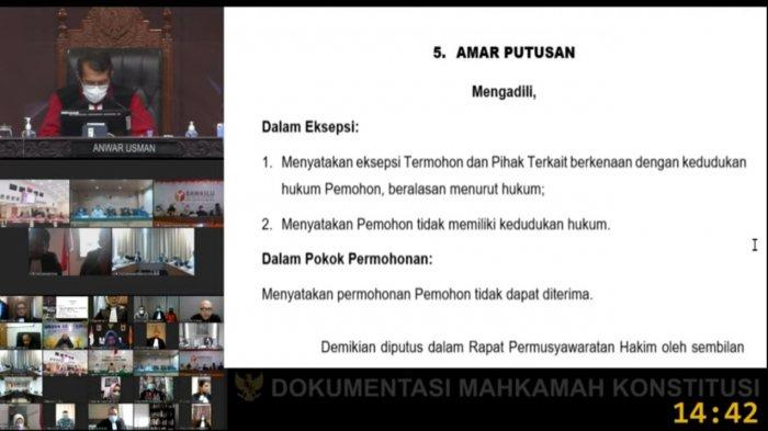 Mahkamah Konstitusi Tolak Gugatan Muhamad-Saraswati, Terkait Hasil Pilkada Tangerang Selatan