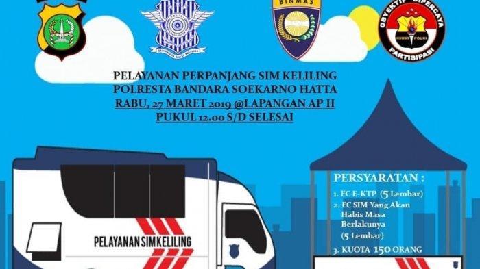 Jadwal Pelayanan SIM Keliling Tangerang Senin 22 Juli 2019
