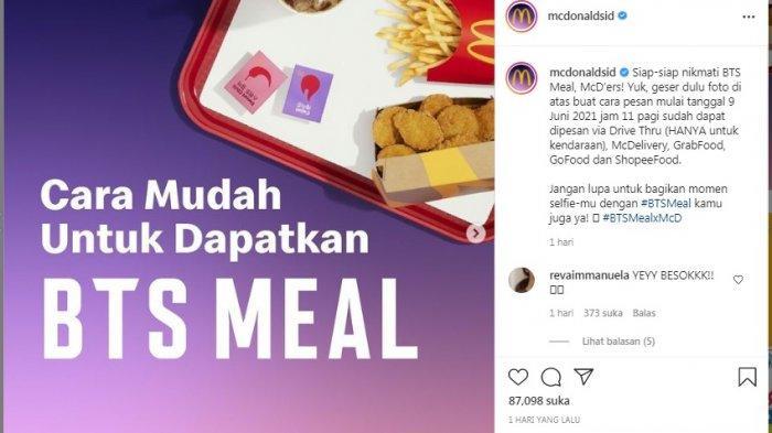 Simak 5 Cara Pembelian BTS Meal di McD, Lengkap dengan Harga dan Varian Menunya