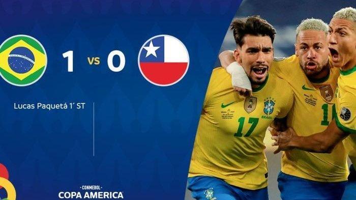 Hasil Copa America 2021 Brasil vs Chile: Gabriel Jesus Kena Kartu Merah, Tim Samba ke Semifinal