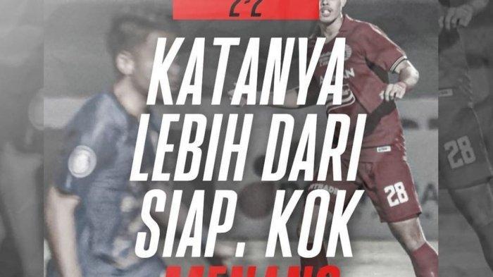 Sindiran Ketum Jakmania di akun Instagramnya usai Persija Jakarta kembali gagal menang.