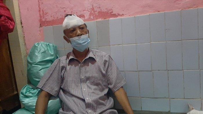 Sofyan, korban penembakan usai melawan perampok di rumah majikannya, Gang Mas Nomor 10 RT 04 RW 02, Kelurahan Balimester, Jatinegara, Jakarta Timur, Senin (19/4/2021)