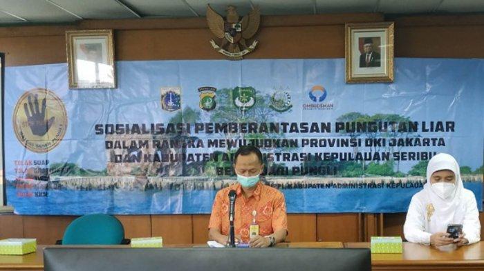 Inspektorat Pembantu Kabupaten Kepulauan Seribu menggelar Sosialisasi Pemberantassan Pungutan Liar di Gedung Mitra Praja, Tanjung Priok, Jakarta Utara, Jumat (10/9/2021).