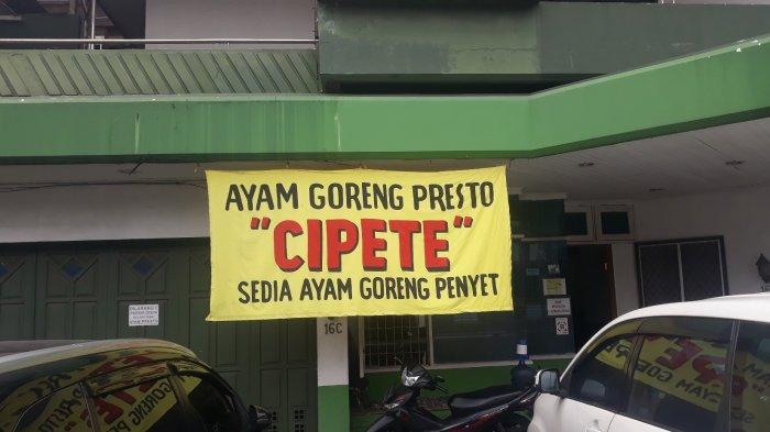 Tampak depan restoran ayam goreng presto Cipete di Jalan Cipete Raya Nomor 11 pada Senin (15/3/2021).