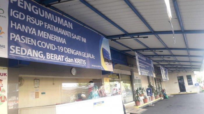 Pasien Covid-19 Membludak, IGD RSUP Fatmawati Jakarta Selatan Tak Terima Pasien Umum Mulai Hari Ini
