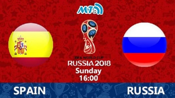 Babak Pertama Imbang 1-1, Rusia dan Spanyol Dapat Gol 'Hadiah'