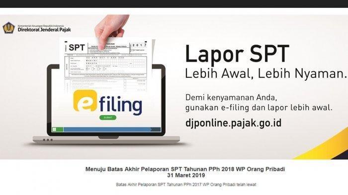 Cara Mudah Lapor Spt Tahunan Online Siapkan Bukti Potong Dari Kantor Sebelum Isi Spt Tribun Jakarta