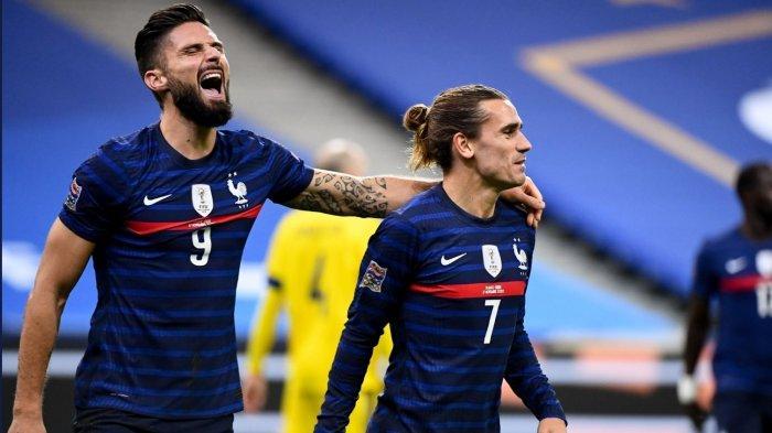 Hasil UEFA Nations League: Perancis Kalahkan Swedia 4-2, Giroud Cetak Brace