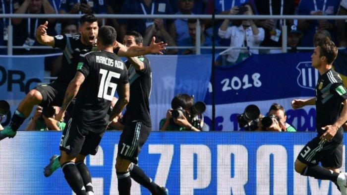 Babak Pertama:Argentina Vs Islandia Imbang 1-1