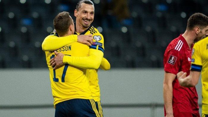 Comeback ke Timnas Swedia, Zlatan Ibrahimovic Beri Assist Keren