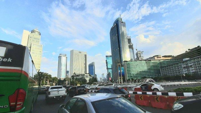 Begini Suasana Lalu Lintas di Bundaran HI Jakarta Usai Libur Panjang Iduladha