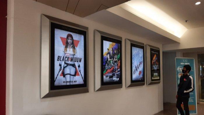 Suasana bioskop 21 dan Cinema XXI di mal Blok M Square dan Blok M Plaza, Kebayoran Baru, Jakarta Selatan, Kamis (16/9/2021).