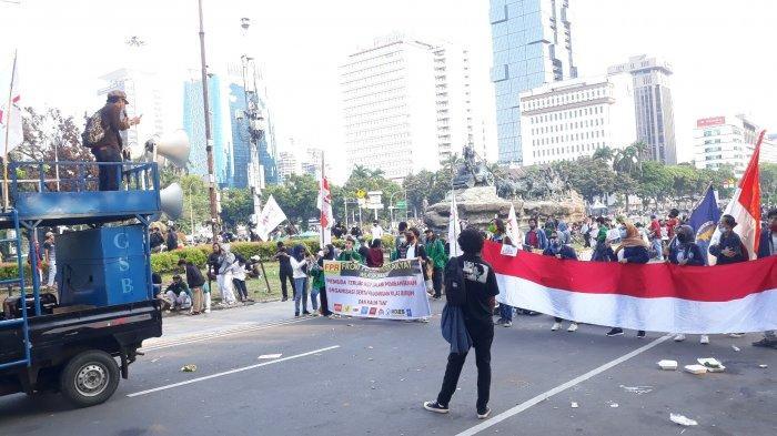 5.190 Anggota TNI-Polri Amankan Demonstrasi UU Cipta Kerja di Sekitar Monas