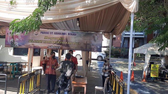 Rangkaian Hari RayaPaskah di Bekasi Berlangsung Khidmat, Tambah Pengamanan Dilakukan di Tiap Gereja - suasana-di-gereja-santo-arnoldus-jenssen-bekasi-1.jpg