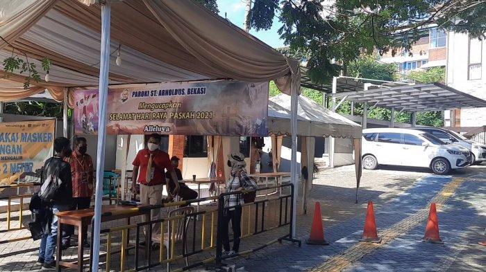 Rangkaian Hari RayaPaskah di Bekasi Berlangsung Khidmat, Tambah Pengamanan Dilakukan di Tiap Gereja - suasana-di-gereja-santo-arnoldus-jenssen-bekasi.jpg