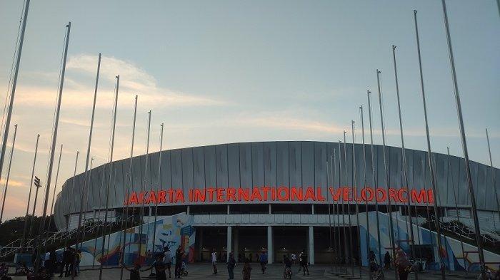 Suasana di Jakarta International Velodrome, Jakarta Timur kala akhir pekan, Minggu (13/6/2021)