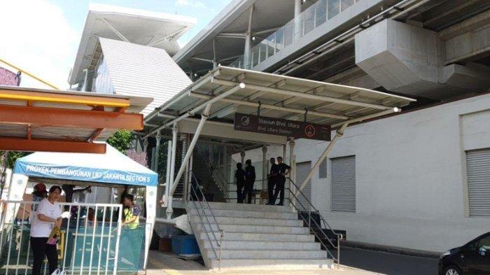 Jelang Uji Publik, Begini Suasana di 2 Stasiun LRT Jakarta Utara
