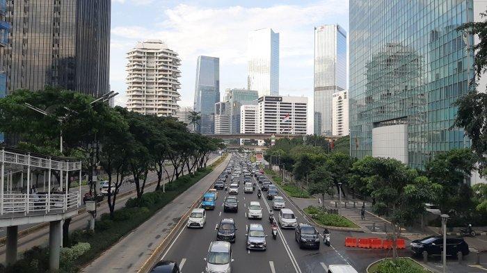 1 Hari Jelang Masa Berlaku PSBB Habis, Lalu Lintas di Jalan Protokol Ibu Kota Mulai Padat