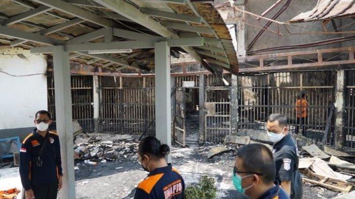 Suasana Lapas Kelas I Tangerang, Banten pasca-terbakar pada Rabu (8/9/2021) dini hari. Kebakaran hebat dalam dua jam itu mengakibatkan 45 orang narapidana tewas.