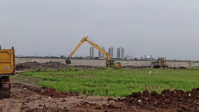 Begini Suasana Lokasi Pembuatan Makam Khusus Covid-19 di Rorotan Jakarta Utara