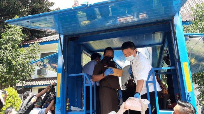 Suasana pemusnahan narkotika di Gedung BNN, Kramat Jati, Jakarta Timur, Rabu (2/12/2020).