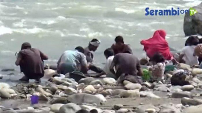 Mendadak Kaya 4 Hari Nyebur Sungai Alas Warga Dapat Rp 4 Juta dari Butiran Emas
